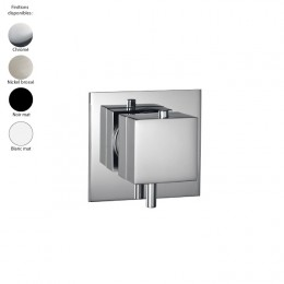 Mitigeur thermostatique douche encastré 1 sortie design carré de Treemme, 4 finitions