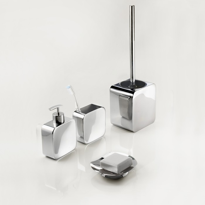 brosse wc pot balayette design poser inox poli. Black Bedroom Furniture Sets. Home Design Ideas