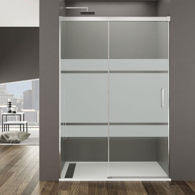 paroi douche avec porte coulissante 100 200 cm s rigraphie d polie. Black Bedroom Furniture Sets. Home Design Ideas