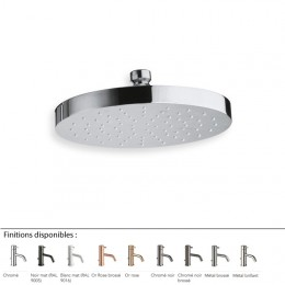 Pommeau de douche rond Ø 19 cm design EXECUTIVE de Cristina, laiton 9 finitions