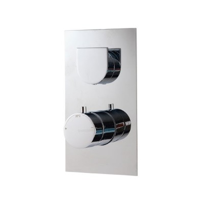 Mitigeur thermostatique douche encastré 1 sortie, design RAN, 5 finitions